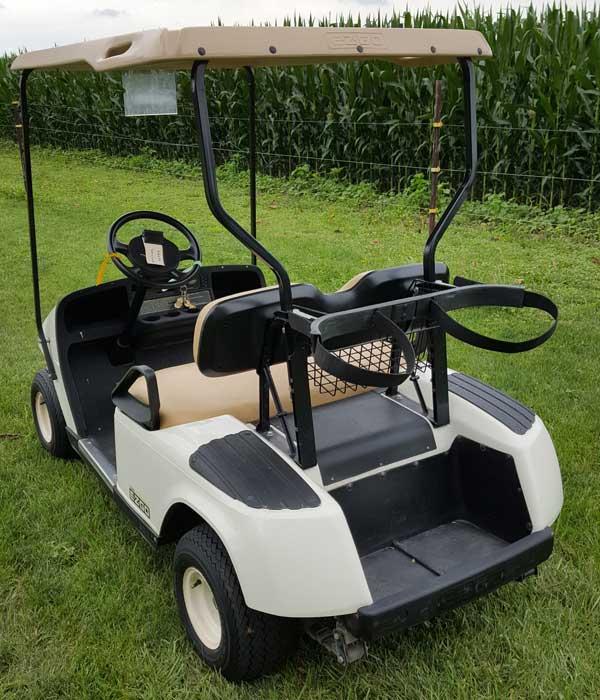 2010 EZGO Gas White Golf Cart 13 5 HP Kawasaki Buckeye Pro